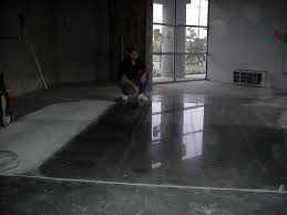 polished cement flooring