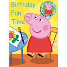 pig birthday cards