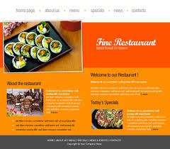 restaurant web site template