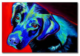 black labrador paintings