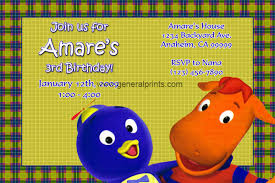 backyardigans birthday invitations