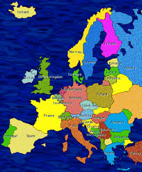 europe map in french
