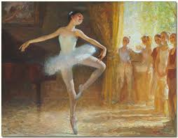 ballerina oil paintings