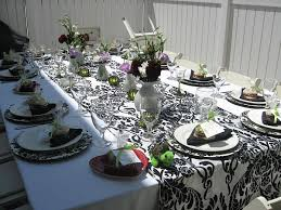 black and white wedding shower