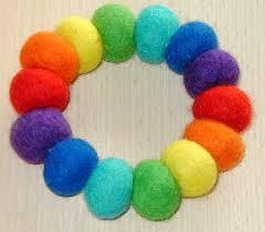 rainbow felt