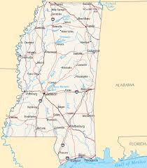 map of cities in mississippi