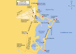 cancun area maps
