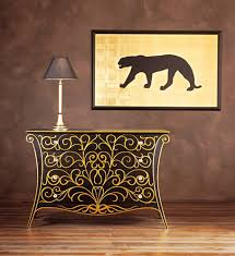 black and gold furniture