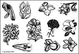 floral rubber stamp