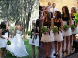 black and white bridesmaid dress