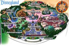 disneyland california map