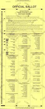 sample ballot 2008