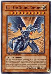 blue eyes shining dragon card