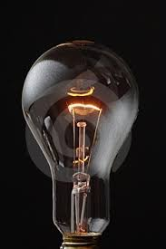 dimming light bulb