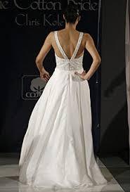 low cut wedding dress