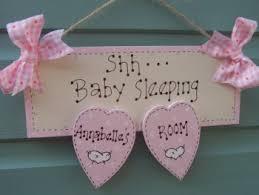 baby door plaque