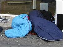 homeless people in the uk
