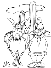 mexican coloring page