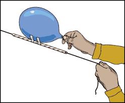 balloon powered rockets