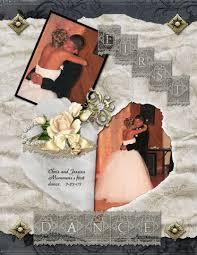 scrapbook wedding layout