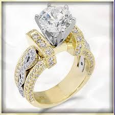 gold diamond engagement rings