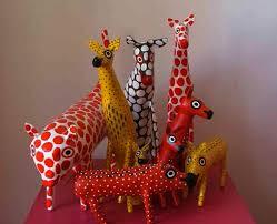 papier mache animals