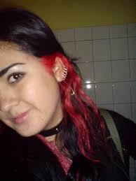 mechas rojas