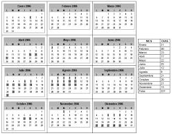 calendario de 2006