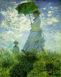 monet woman with parasol
