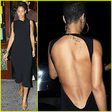 long black backless dress