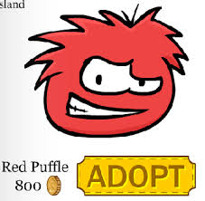 club penguin red puffle