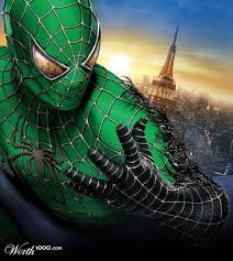 green spiderman