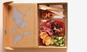 cardboard lunch box