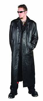 gothic leather trench coat