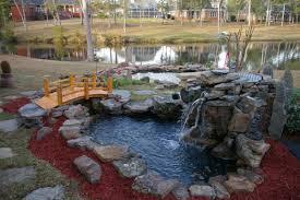 backyard waterfalls and ponds