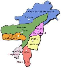map of northeast region