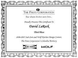design certificates