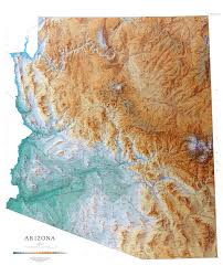 geographic map of arizona