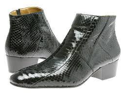 croc skin boots
