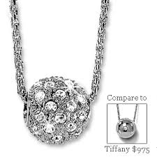 diamond ball necklaces