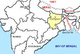 bodhgaya india map
