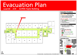 evacuation floor plan