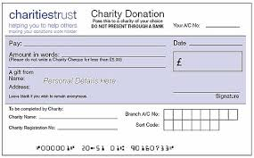 charity cheques