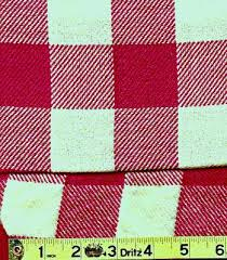red and white checked fabric