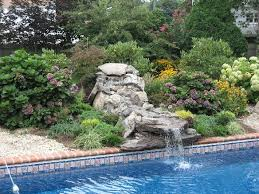 poolside waterfalls