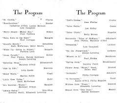 piano recital program