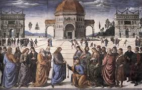 "War ""Petrus"" der 1. Pabst? Perugino-jesus-gives-peter-the-keys"
