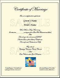 certificate marriage