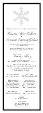 christmas wedding programs