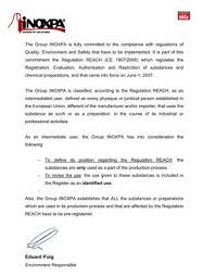 declaration of compliance
